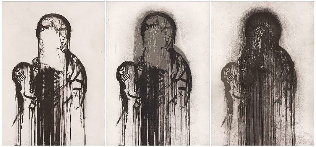 Untitled (Triptych) by Jaume Plensa at