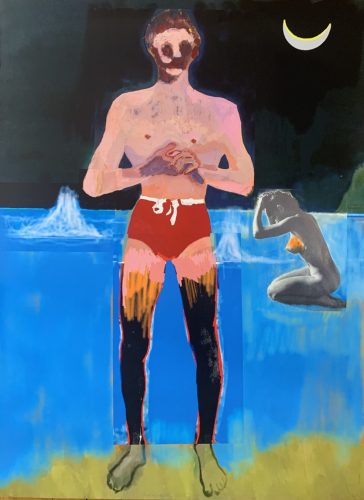 Bather for Secession by Peter Doig at