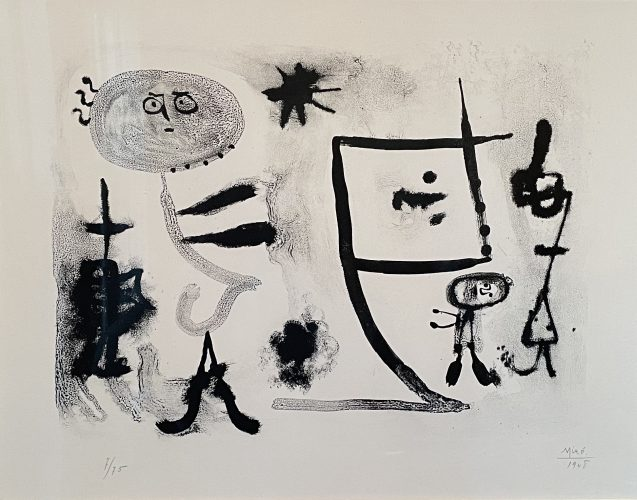 Album 13, plate 1 by Joan Miro at F.L. Braswell Fine Art