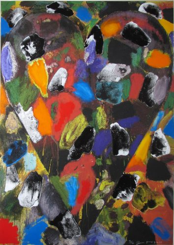 Ball-Grained Heart by Jim Dine at