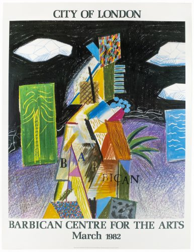 Barbican Centre for the Arts, Miami 1982 (Detail from Cubistic Bar 1980) by David Hockney at Petersburg Press