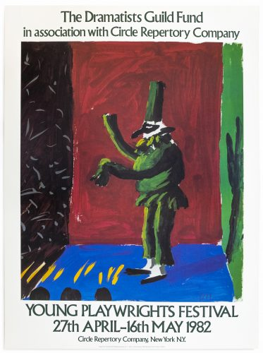 Young Playwrights Festival 1982 (Detail from Pulcinella with Applause 1980) by David Hockney at
