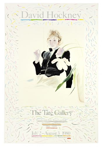 Tate Gallery 1980 (Celia in a Black Dress with White Flowers 1972) by David Hockney at