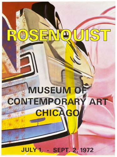 Museum of Contemporary Art Chicago 1972 by James Rosenquist at