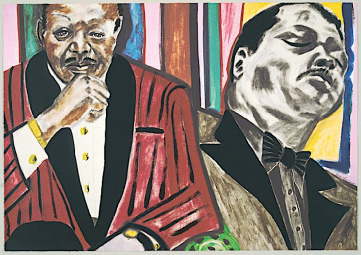 Oscar Peterson by Frederick Brown at
