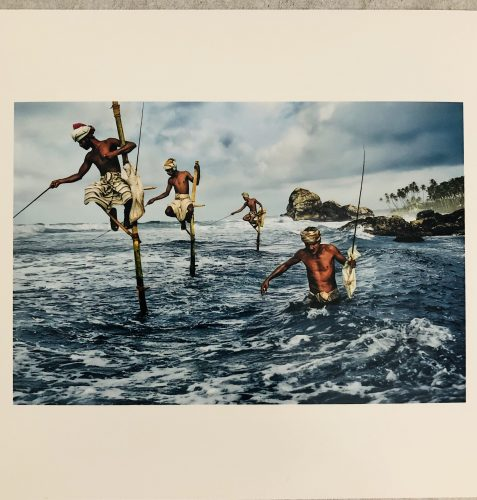 Steve McCurry Fishermen Weligama 1995 by Steve McCurry at