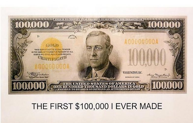 The First $100,000 I Ever Made by John Baldessari at