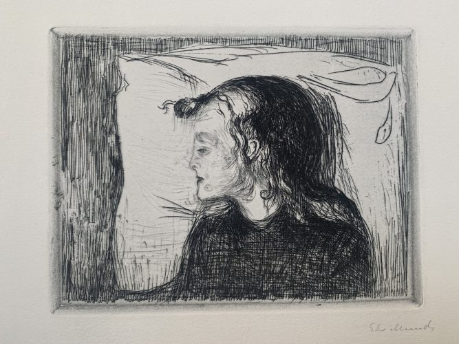 Det syke bar (The sick child) by Edvard Munch at