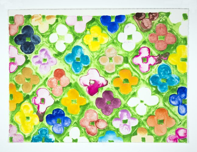 Field Flowers #1 by Judy Ledgerwood at