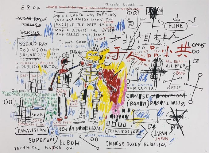 Boxer Rebellion by Jean-Michel Basquiat at Hamilton-Selway Fine Art