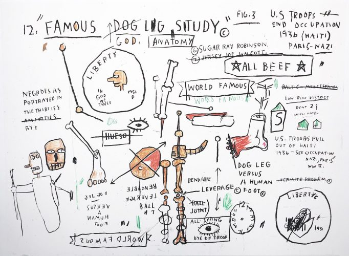 Dog Leg Study by Jean-Michel Basquiat at Hamilton-Selway Fine Art