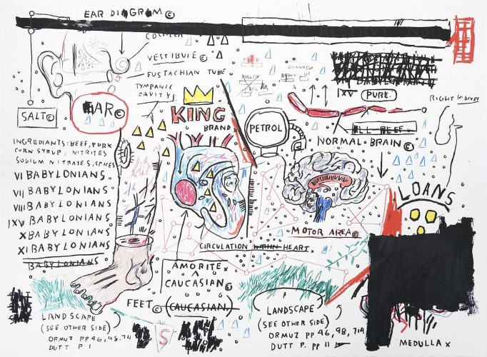 King Brand by Jean-Michel Basquiat at Hamilton-Selway Fine Art