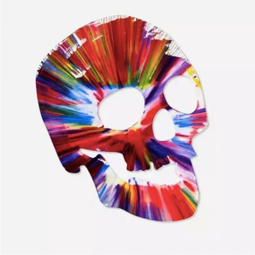 Skull Spin Painting by Damien Hirst at