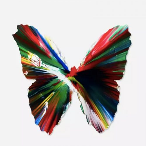 Butterfly Spin Painting by Damien Hirst at