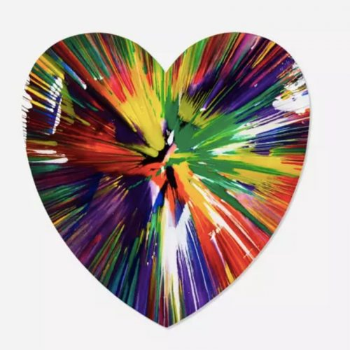 Heart Spin Painting by Damien Hirst at