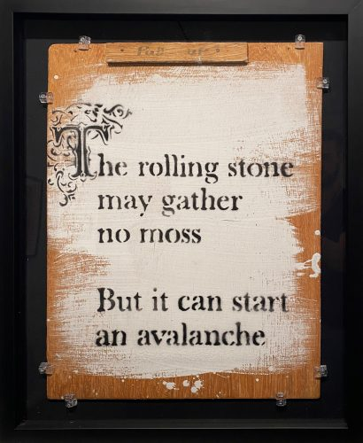 The Rolling Stone May Gather No Moss… by Banksy at