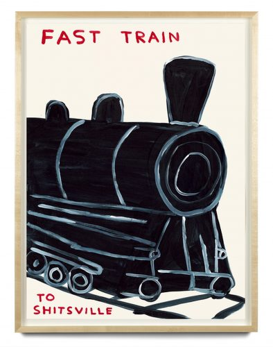 Untitled '(Fast train to Shitsville)' by David Shrigley at Gallery Collectors