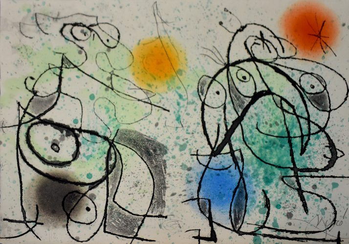 Composition I, from: The Grotesque Courtier | Le courtisan grotesque by Joan Miro at