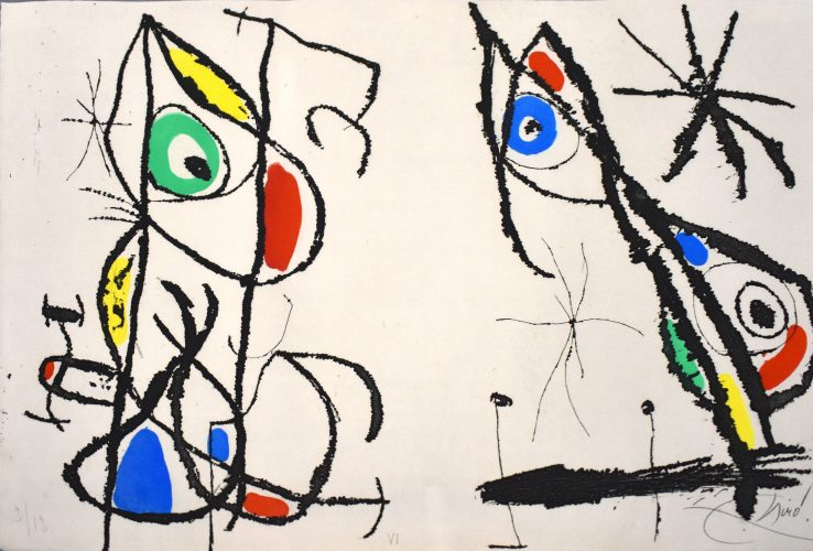 Composition VI, from: The Grotesque Courtier | Le courtisan grotesque by Joan Miro at