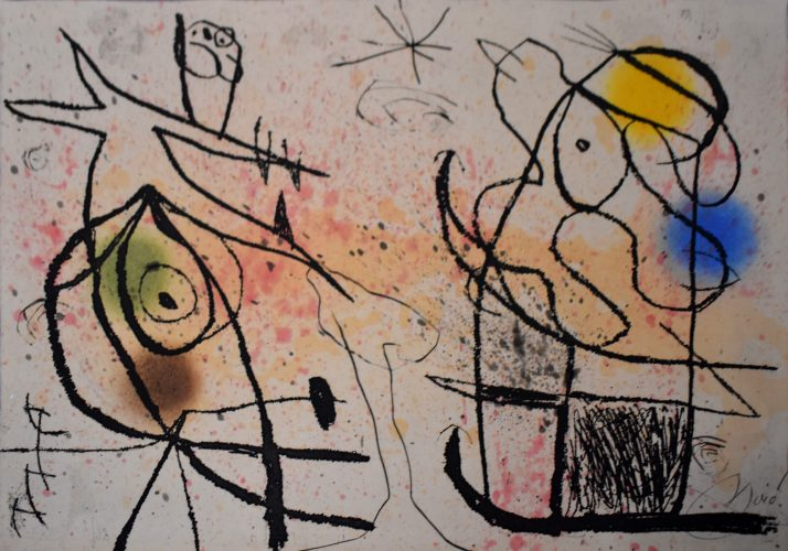 Composition XI, from: The Grotesque Courtier | Le courtisan grotesque by Joan Miro at
