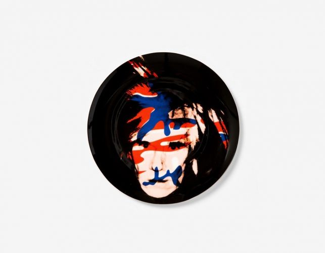 Camouflage Self-Portrait (Plate) by Andy Warhol at