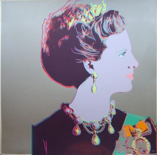 Reigning Queens, Queen Margrethe II of Denmark by Andy Warhol at