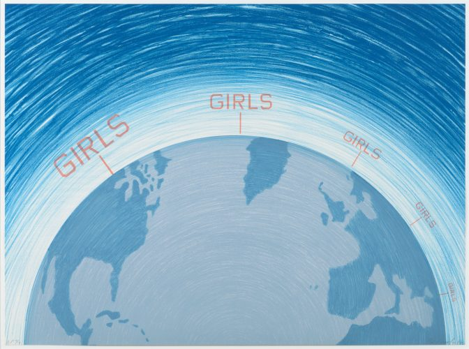 Girls, from the World Series by Ed Ruscha at