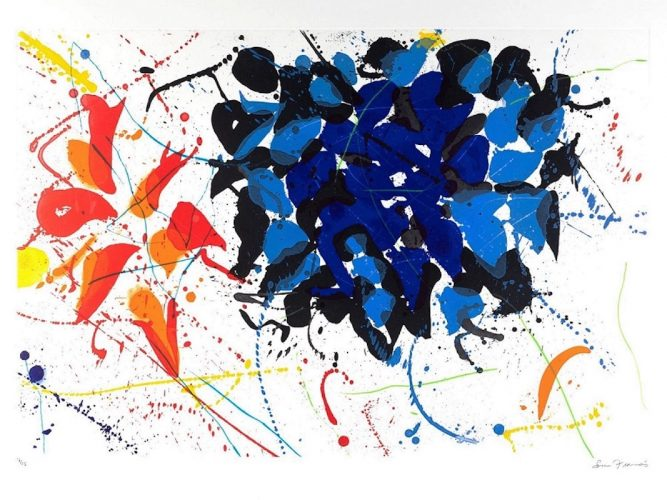 Untitled (SFE-079) by Sam Francis at Michael Lisi/Contemporary Art