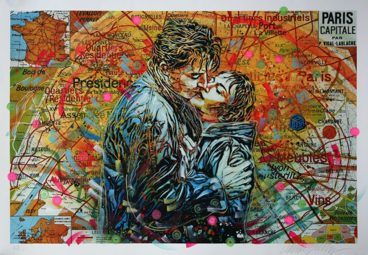 Les Amoureux – Paris by C215 at