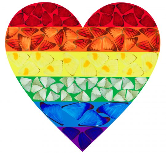 Butterfly Rainbow Heart by Damien Hirst at