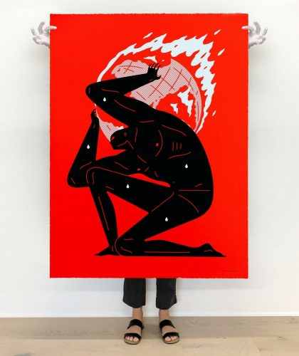World on Fire (Red) by Cleon Peterson at