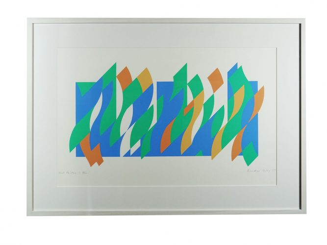Wall Painting 1 by Bridget Riley at