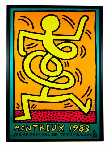 Montreux 1983 (Prestel 9) by Keith Haring at Hidden