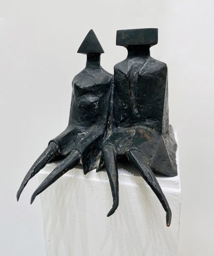 Sitting Couple in Robes by Lynn Chadwick at