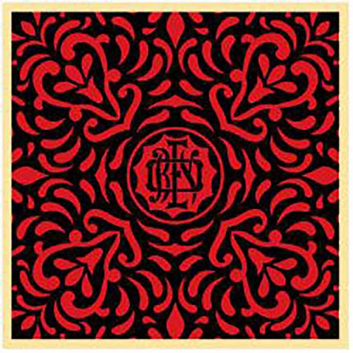 Japanese Fabric Pattern (Red 4) by Shepard Fairey at