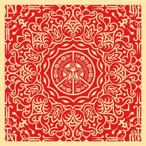 Ornate Pattern Red by Shepard Fairey at