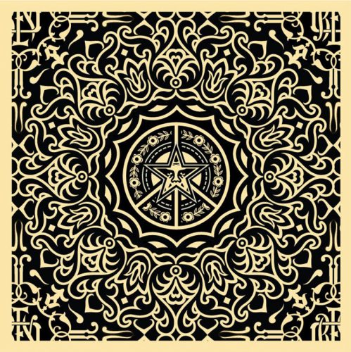 Ornate Pattern Black by Shepard Fairey at