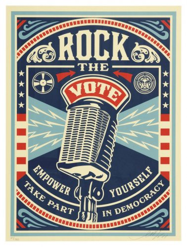 Rock the Vote by Shepard Fairey at