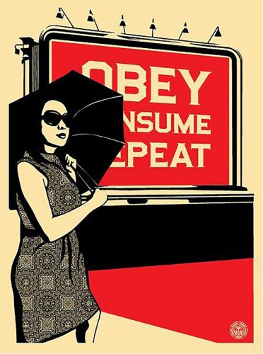 Obey Billboard (Consume) by Shepard Fairey at