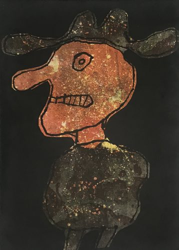 Person in a Hat | Personnage au chapeau by Jean Dubuffet at