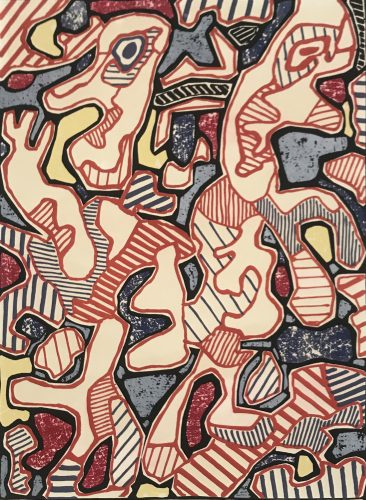 Hustle and Bustle | Affairements by Jean Dubuffet at