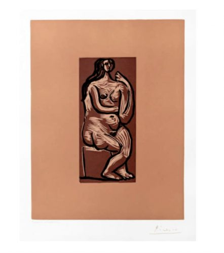 Seated Nude by Pablo Picasso at