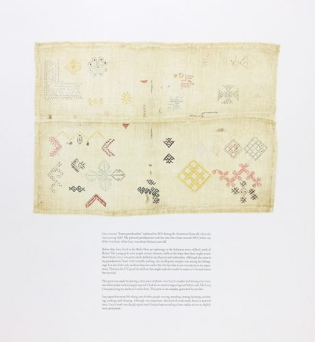 Lucy's Sampler by Nina Katchadourian at