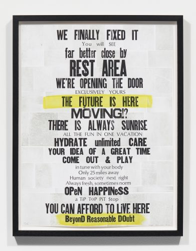 road sign poetry/the future is here by Masha Kechaeva at