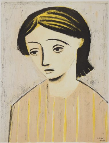 Portrait of a Girl by William Scott at