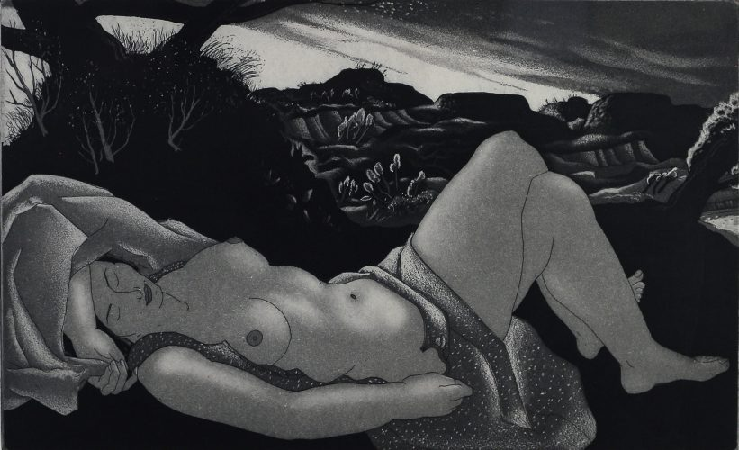 Nude in Spring Landscape by Doel Reed at