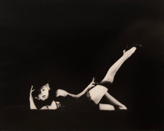 Leg Up from The Black Sitting by Milton Greene at Andrew Weiss Gallery