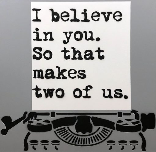 Believe Two by WRDSMTH at Taglialatella Galleries