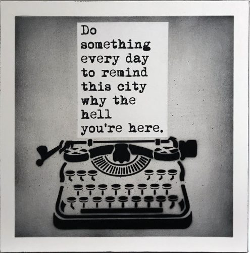 Do Something by WRDSMTH at Taglialatella Galleries