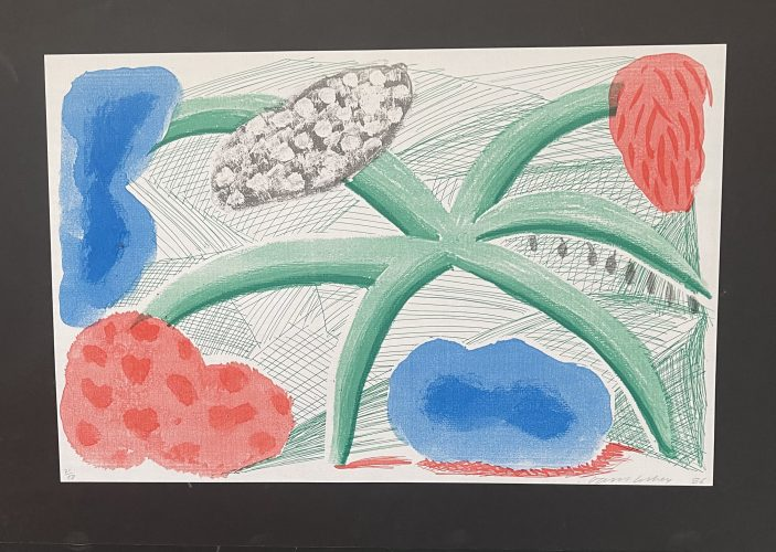 Landscape with a plant, July 1986 by David Hockney at